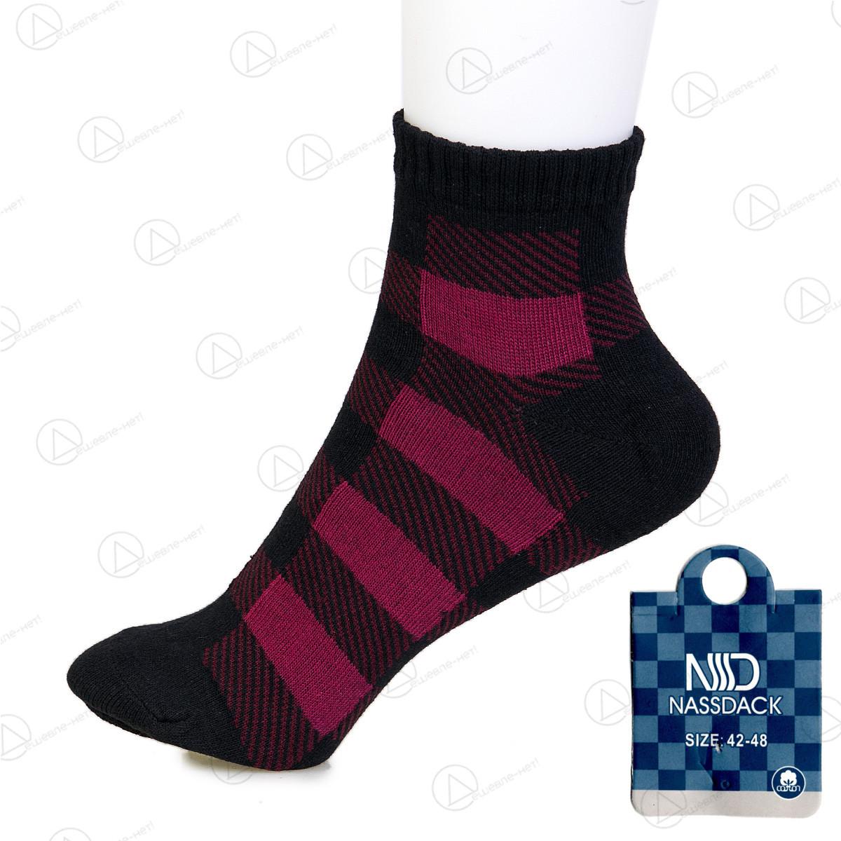 Бордовые носки мужские низкие Nassdack 1004-2drn