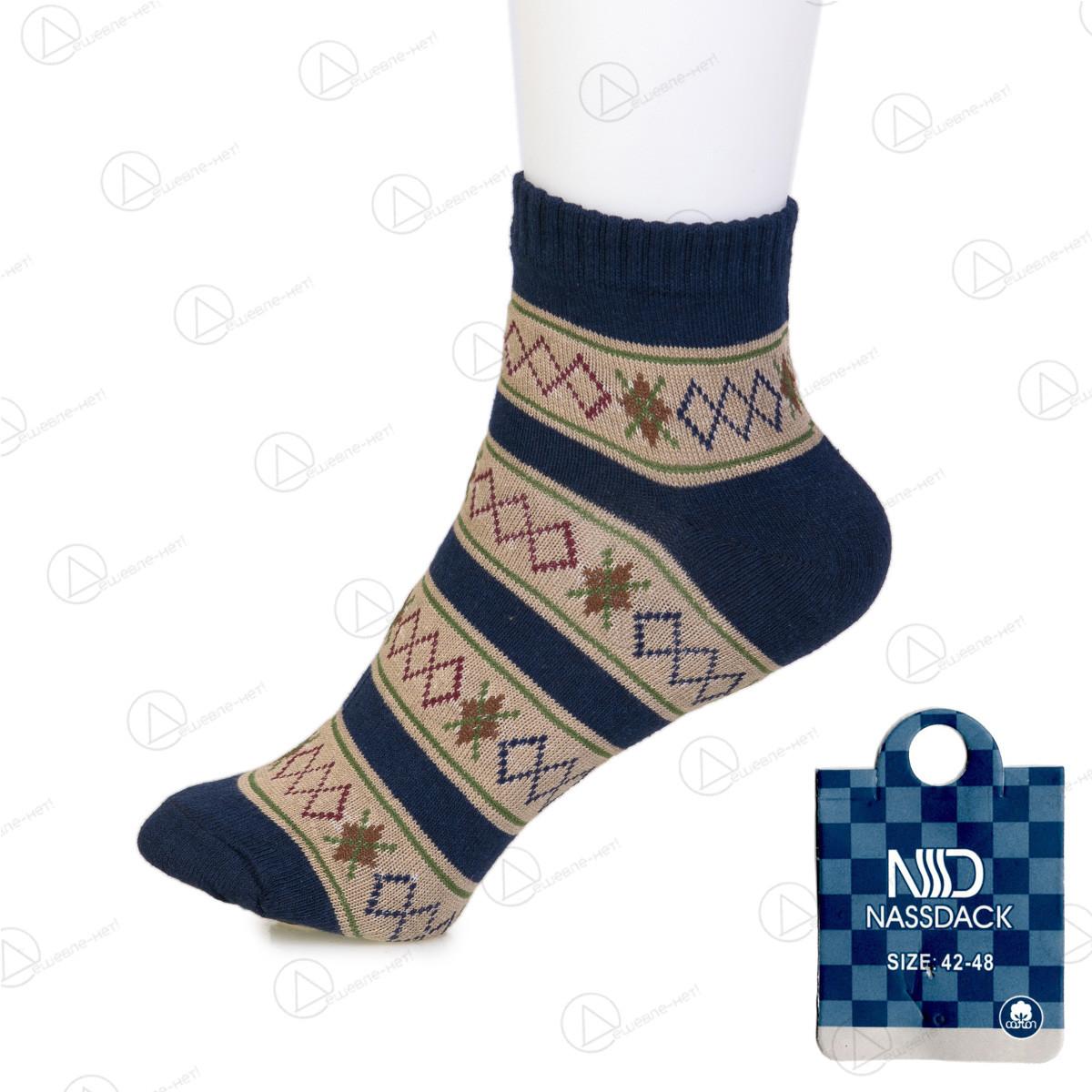 Короткие носки мужские с узором Nassdack 1005-4