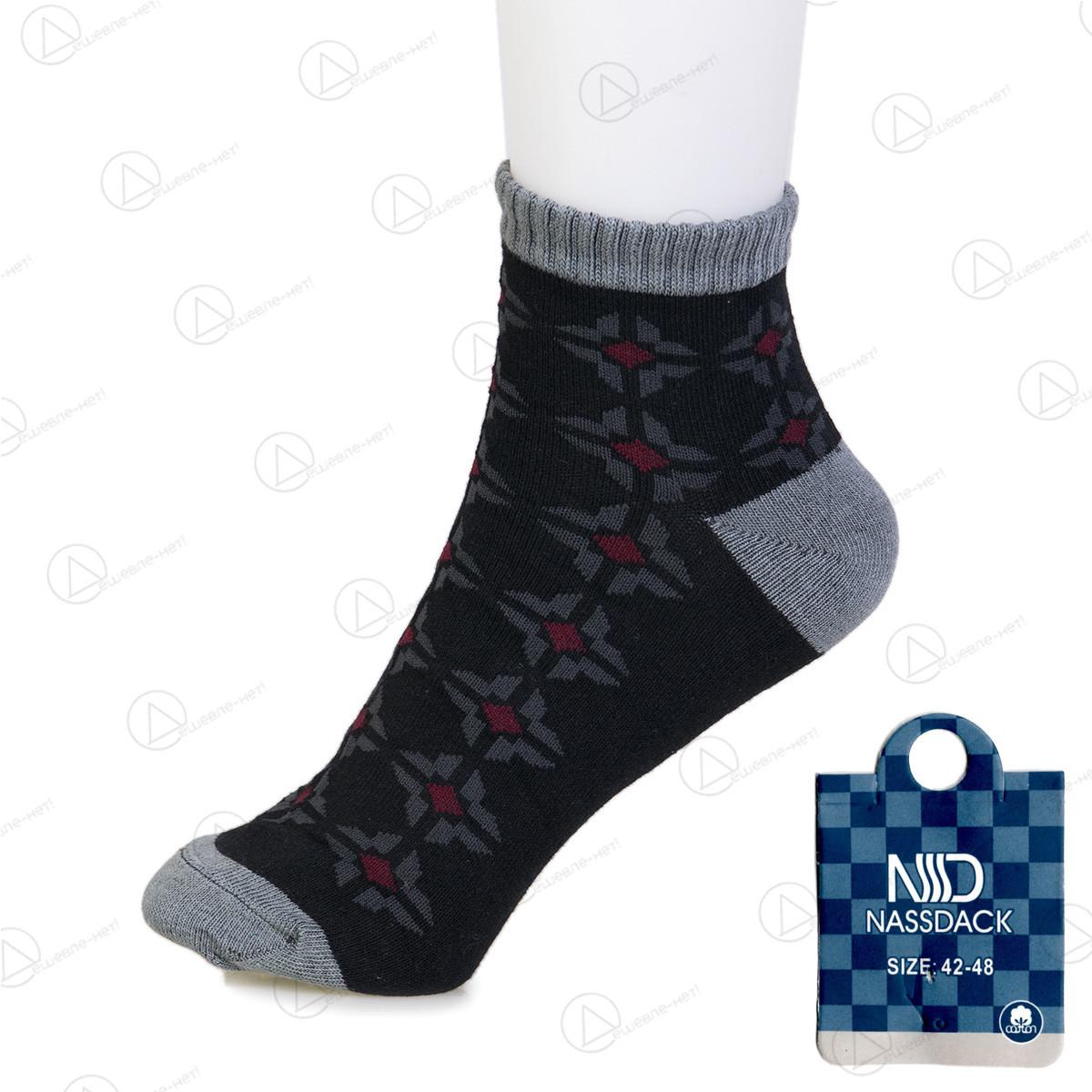 Носки мужские короткие узорные с бамбуковым волокном Nassdack 1005-6