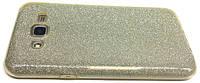 Чехол 3in1 Блёстки для  Samsung J700 (J7) gold