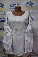 """Вишита сорочка """"Візерунки"""" білим по білому, фото 1"""