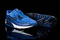 Мужские кроссовки найк Nike Air Max -синие- Кожа,замша.подошва пена,р:40-44 ТОП (копия - ААА+) , фото 1