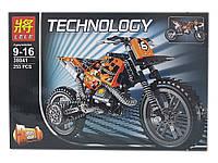 Конструктор Lele Technology 38041 Кроссовый мотоцикл 2 в 1 (Аналог LEGO Technic 42007) 253 дет