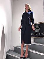 Красивое Платье Женское Деловое Бренд Black Rich (36)