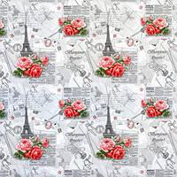 """Бумага упаковочная """"Цветы"""" 100х70 см"""