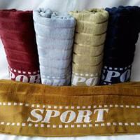 Однотонное большое махровое полотенце для сауны.