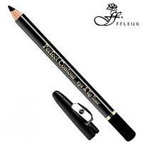 FFleur Карандаш для глаз с точилкой Perfect Contour Eye And Lip Liner (Чёрный)