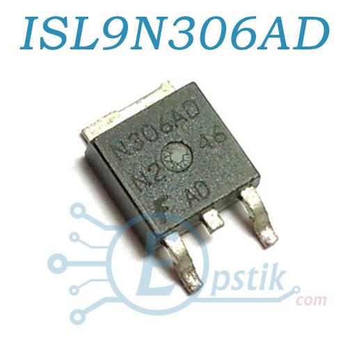 ISL9N306AD3ST, Mosfet транзистор N-канал, 30В 50А, TO252