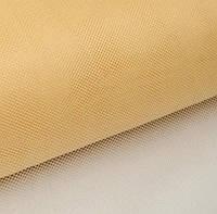 Фатин Кремовый Тюль (сетка) металлик блеск 3 метра ширина