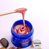 Камуфлирующий однофазный гель для наращивания Master 30g,  Yellowish-pink