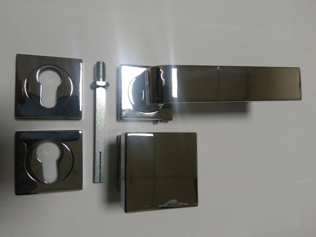 Комплект Fimet Ring для входной двери (ручка,кноб,накладки под цилиндр,квадрат) хром