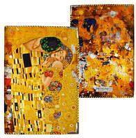 Обложка для паспорта Поцелуй Г.Климт, опт от 5 шт, обложка на паспорт фотопринт