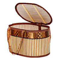 Сумка-корзина складная бамбуковая М-7, вес до 10 кг