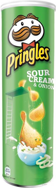 Чипсы Pringles Sour Cream & Onion Сметана-лук 165 г