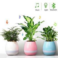 Музыкальная колонка цветочный горшок bluetooth SPS Music Pots Plant BT Blue, White, Pink