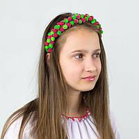 Красный ободок веночек для волос с цветами Калина
