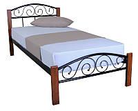 Кровать Vederi 900x2000 black, односпальная металлическая кровать