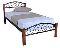 Кровать Vederi 900x2000 black, односпальная металлическая кровать Бесплатная доставка