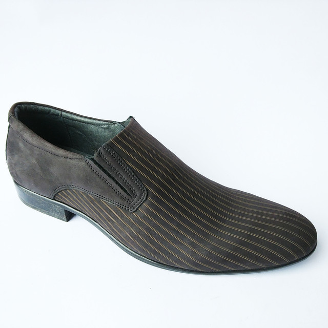 Мужская кожаная польская обувь в Украине классические замшевые туфли под ложку шоколадного цвета