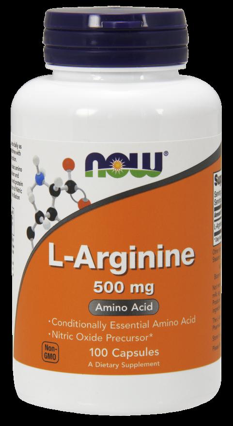 Эффективный стимулятор синтеза гормона роста - L-Аргинин (L-Arginine), 500 мг 100 капсул - Красивая фигура в Киеве