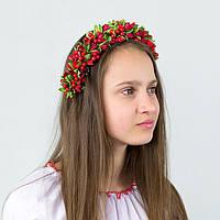 Красный веночек для волос девочке