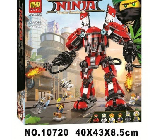 Конструктор Bela 10720 Ninjago Movie ниндзяго муви Огненный робот Кая 980 дет