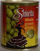 Оливки зеленые с косточкой