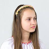Мини веночек для девочки с цветами Персиковые розы