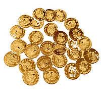 Шалампейки Золотые монетки декоративные (монеты) для пояса восточных танцев, декора 2 см 100 шт/уп