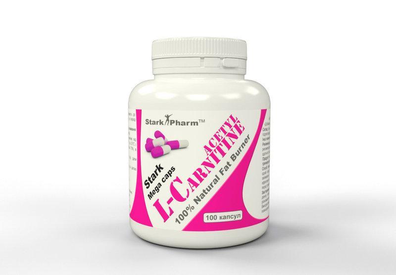 Stark Acetyl L-Carnitine 500 мг 60 капсул (Ацетил-L-карнитин ноотроп и нейропротектор)