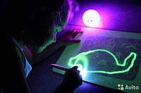Уникальная развивающая игрушка, набор для рисования в темноте Рисуй Светом Планшет А4 ОРИГИНАЛ