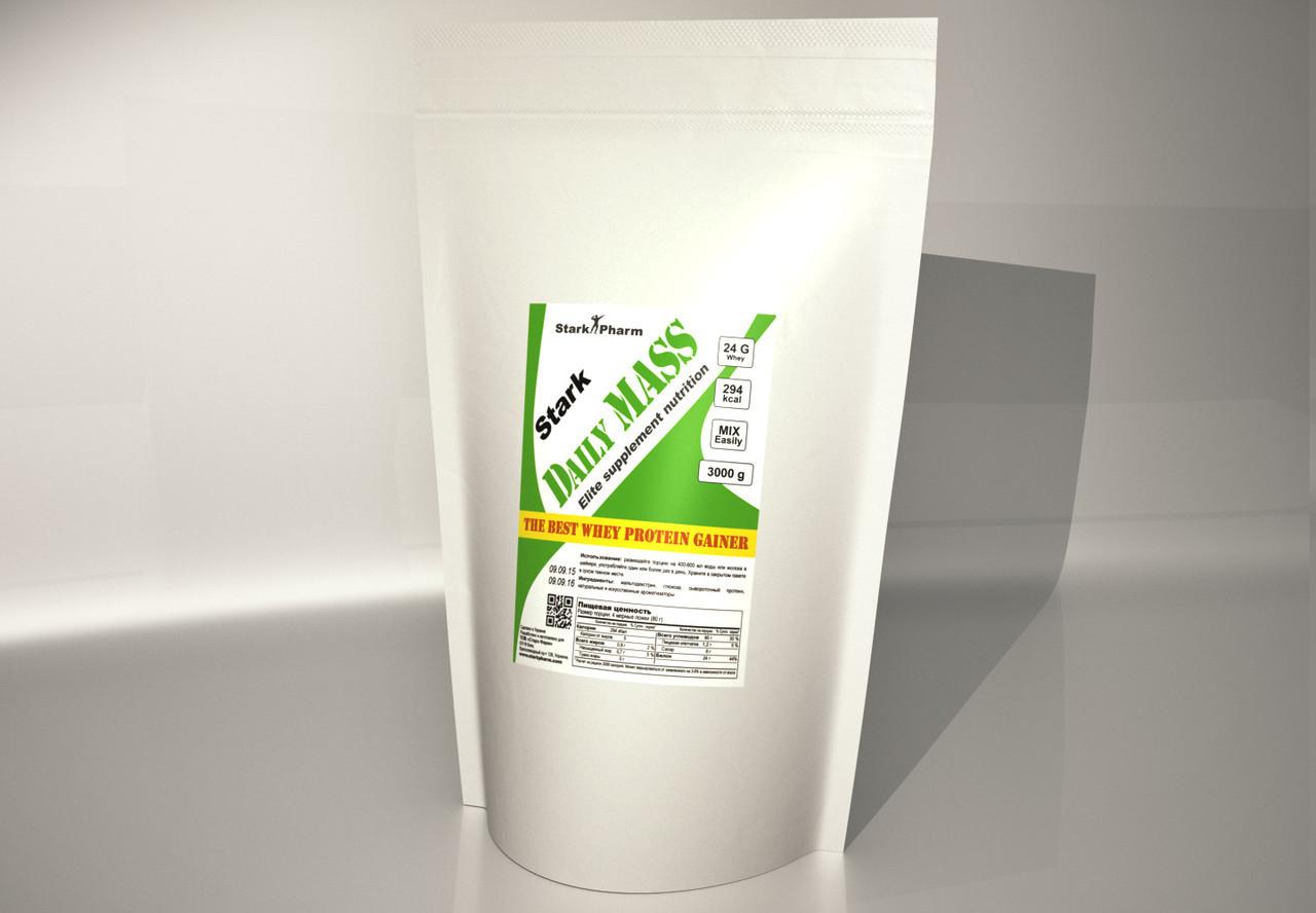 Daily Mass Whey 30% 3000 грам (шоколад, полуниця, ваніль) Stark Pharm