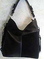 Сумка женская стильная с бахромой черная (Tурция)