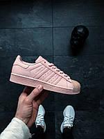 Женские кеды Adidas Superstar 80s Metal Toe W (Icey Pink / Icey Pink / Icey Pink)