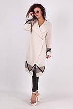 Вязаный кардиган пальто Дениза песочный, фото 3