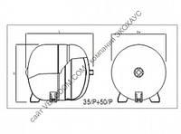 Расширительный бак для отопления ELBI ERE 35/10 на ножках