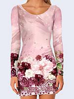 Платье Принт из цветов