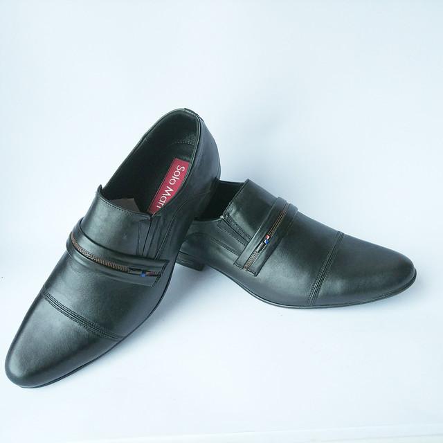 Туфли мужские Харьков классические кожаные черного цвета под ложку