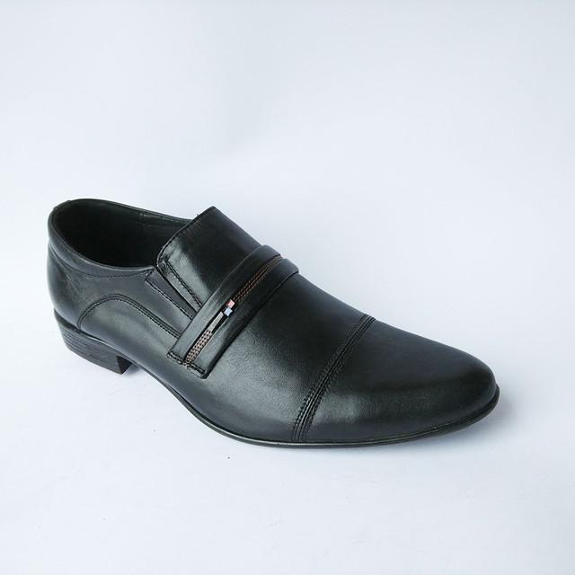 Туфли мужские Харьков классические кожаные под ложку черного цвета