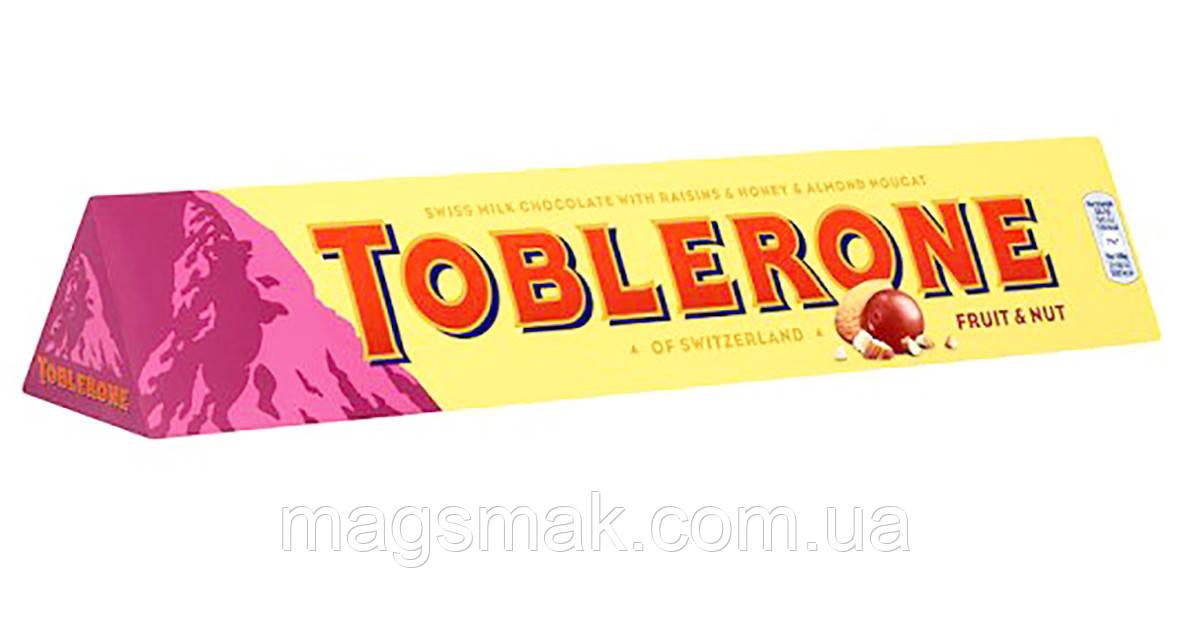 Шоколад Toblerone Молочный с изюмом и нугой 100 г