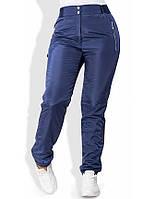 Зимние штаны из плащевки на флисе 1251