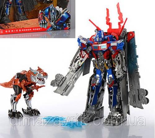Робот-трансформер 4099 (робот+машинка 30 см, динозавр-робот 19 см)
