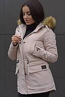 Зимова жіноча парка Node beige/pink parka
