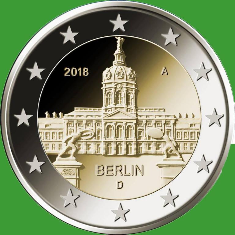 Германия 2 евро 2018 г. Берлин ( A ) , UNC