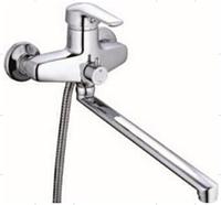 Смеситель для ванны длинный гусак ZEGOR (TROYA) SWZ 7 - А182 (NVL)