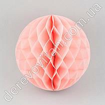 Бумажный шар-соты, светло-розовый, 20 см