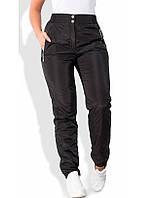 Черные зимние штаны из плащевки на флисе 1252