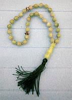 Четки классические, Нефрит, 33 бусины, буддийские четки