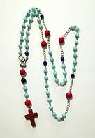 Четки католические, розарий из натурального камня, розарий классический 59 бусин