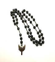 Четки католические Лабрадорит, четки розарий из натурального камня, розарий классический 59 бусин